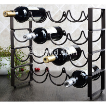 Estante de botellas de vino metálico decorativo